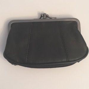 Vintage Artisan Handmade Leather Kiss Lock Wallet